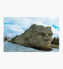 A Cold Day Sitting With Chief Leatherlips Photographic Print