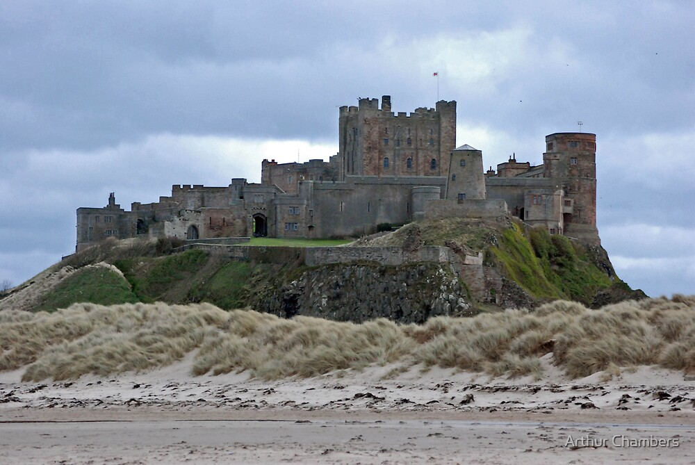 Bamburgh castle Northumberland by Arthur Chambers