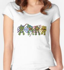 TMNT 2012 - Brothers Women's Fitted Scoop T-Shirt
