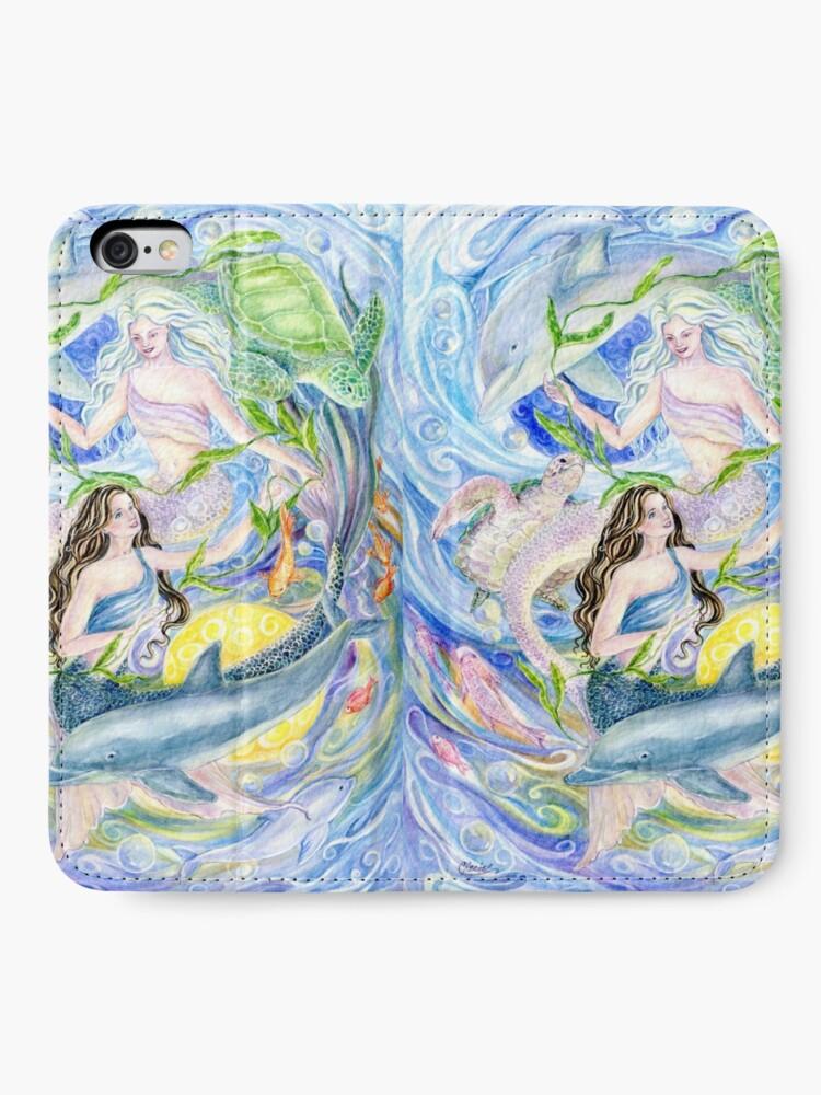 Alternative Ansicht von Yin Yang Meerjungfrauen iPhone Flip-Case
