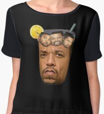 Just Some Ice Tea and Ice Cubes Tshirt design Chiffon Top
