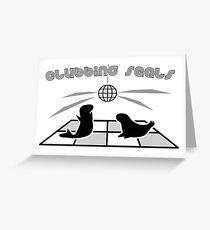 Clubbing Seals Greeting Card
