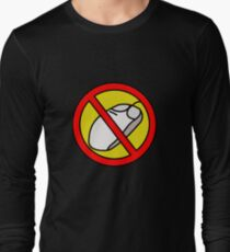 NO COMPUTER MOUSE TRAFFIC SIGN  Long Sleeve T-Shirt