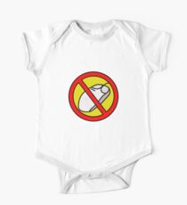 NO COMPUTER MOUSE TRAFFIC SIGN  One Piece - Short Sleeve