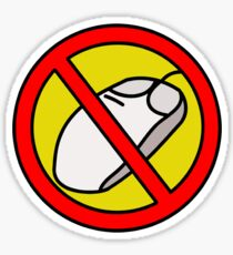 NO COMPUTER MOUSE TRAFFIC SIGN  Sticker