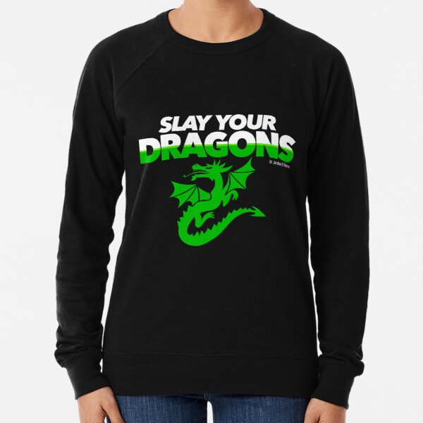 Slay Your Dragons (Green2) Lightweight Sweatshirt