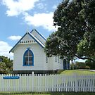 St John's Church and Pohutukawa Tree.......Great Barrier Island.....!! by Roy  Massicks