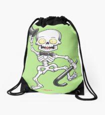 Halloween Skeleton Drawstring Bag