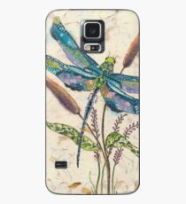 Dragonfly and Cattails Case/Skin for Samsung Galaxy