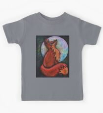 Full Fox Moon Kids Tee