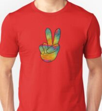 Psychedelic peace hand  Unisex T-Shirt