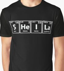 Sheila (S-He-I-La) Periodic Elements Spelling Graphic T-Shirt
