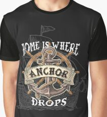 Anchor Boat Graphic T-Shirt