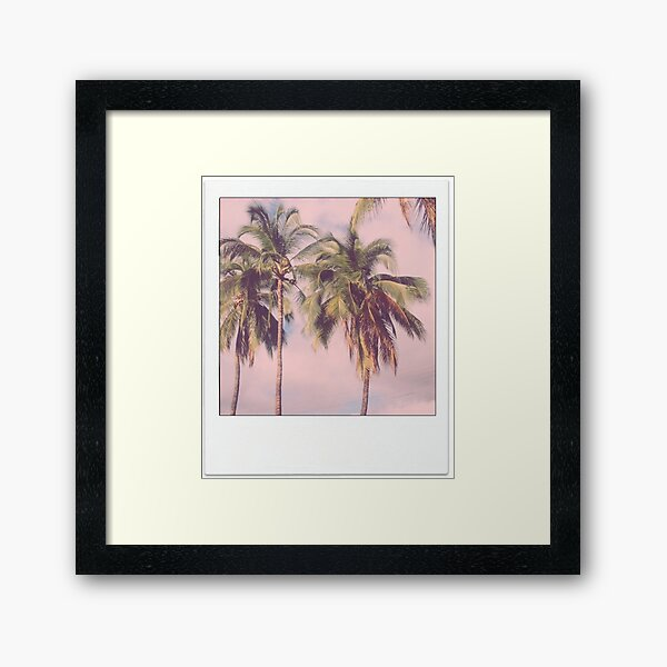 Palm Tree Polaroid Framed Art Print