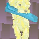 Yellow Yorkie Illustration by ShellyG14