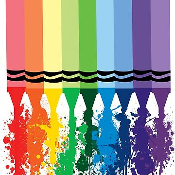 Spattered Crayons  by mersanto