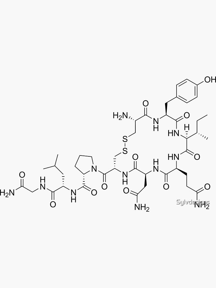Oxytocin Molecular Structure by Sylvdesigns