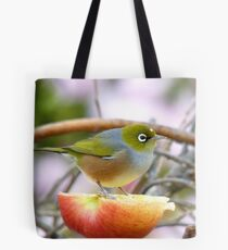 Yum... This Is An Extra Juicy Apple... - Silver-Eye - NZ Tote Bag