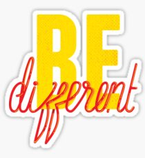 Be Different (Yellow) Sticker