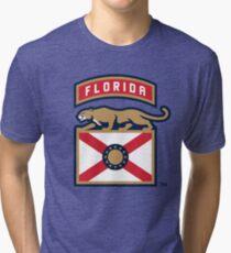 Florida Panthers hockey Tri-blend T-Shirt