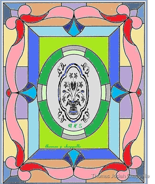 stained glass window 4 u by Thomas Josiah Chappelle