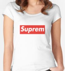 Suprem Supreme Women's Fitted Scoop T-Shirt