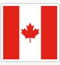 Red and White Canadian Flag Sticker