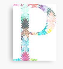 Rho P Watercolor Pineapples Canvas Print