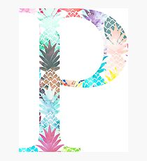 Rho P Watercolor Pineapples Photographic Print