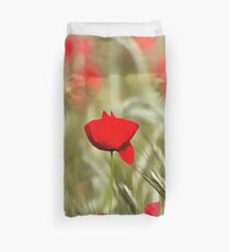 Hot Poppy Duvet Cover