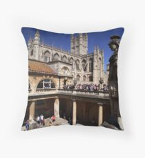 Roman Bath Throw Pillow