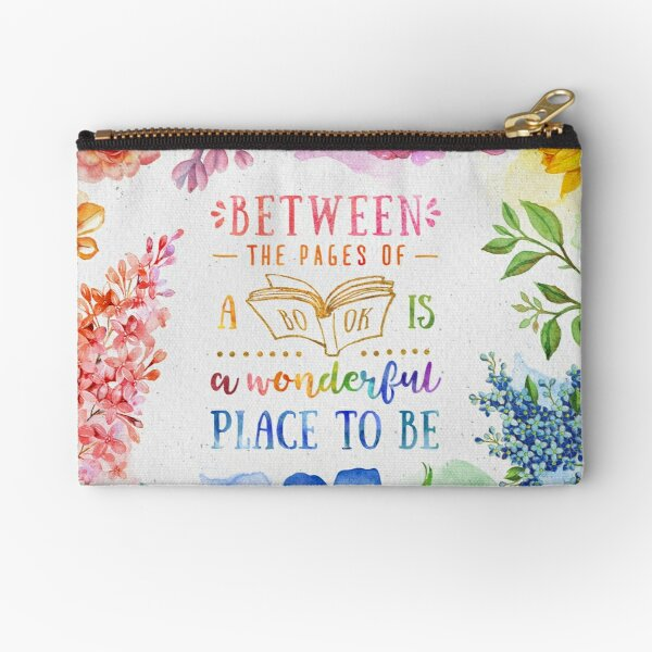 Between the pages Zipper Pouch