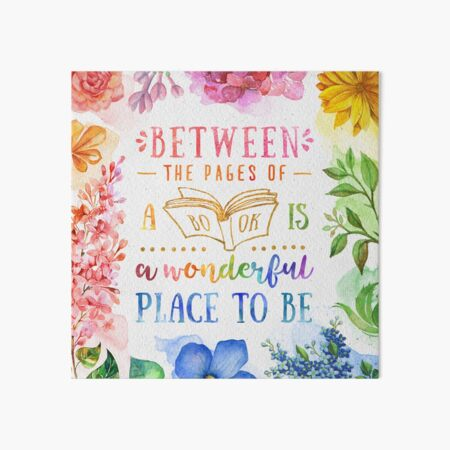 Between the pages Art Board Print