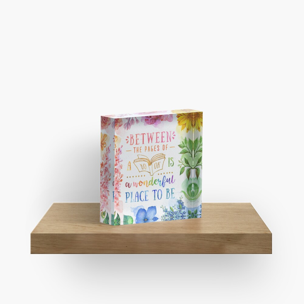 Between the pages Acrylic Block