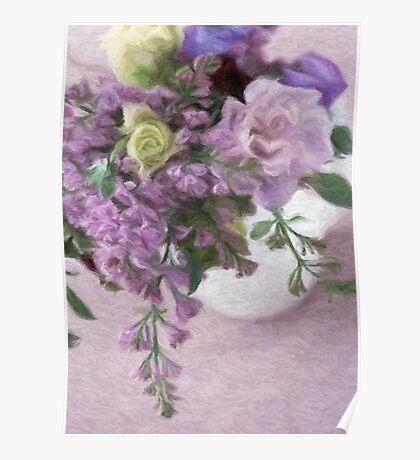 Vase Full of Flowers Poster