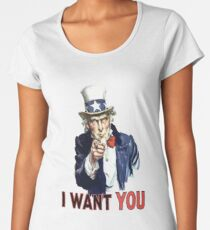 Uncle Sam I Want You Women's Premium T-Shirt