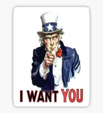 Uncle Sam I Want You Sticker