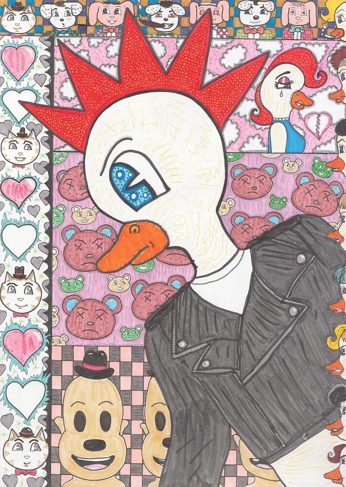 Punk Duck Hates Disco Music by pieeyes