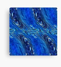 Wave Abstract -Ocean Blue Canvas Print