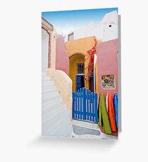 Unique Santorini architecture Greeting Card