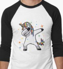 Ursprüngliches Einhorn-Tupfen Baseballshirt für Männer