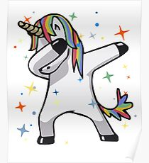 Original Unicorn Dab  Poster