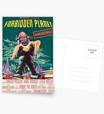 Forbidden Planet, vintage sci-fi movie poster Postcards