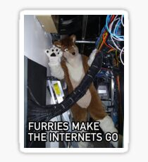 Furries Make The Internets Go Sticker