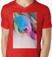 Vertical shoot of unusual multi colored tulip Mens V-Neck T-Shirt