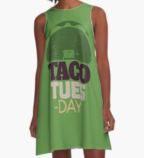 Taco Tuesday Live Everyday Mexican Day of the Week Collectible A-Line Dress
