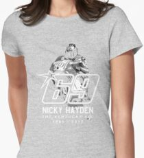 Tribute Nicky Hayden  Womens Fitted T-Shirt