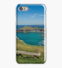 Pentire point and the rumps on the north Cormwall coast iPhone Case/Skin