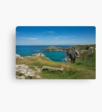 Pentire point and the rumps on the north Cormwall coast Canvas Print