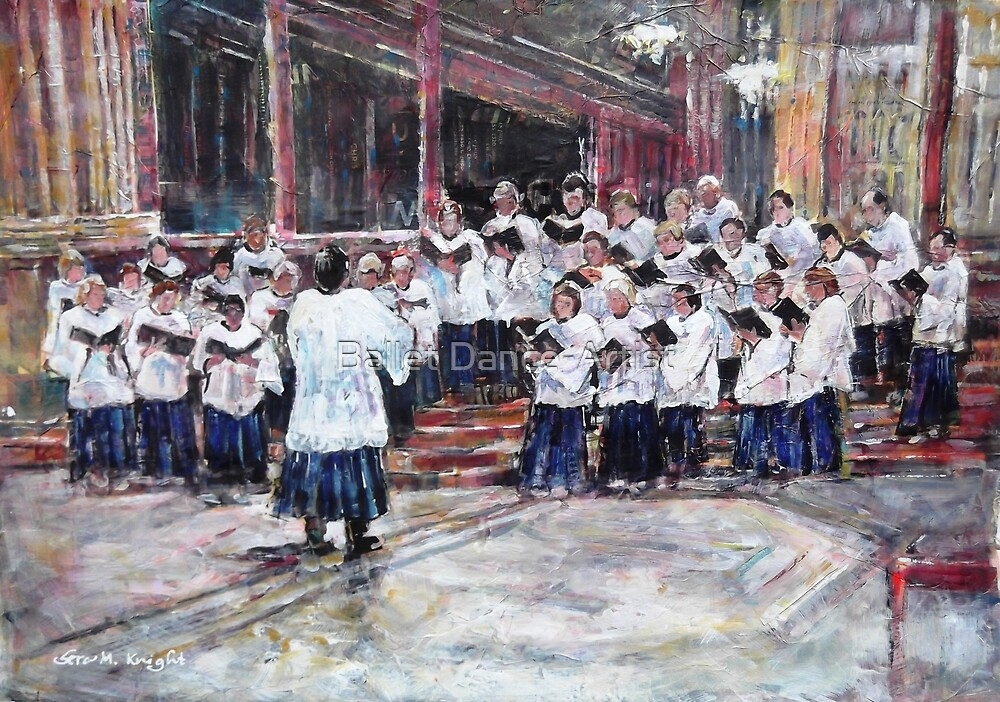 Church Choir Singing - Art Prints & Gifts by Ballet Dance-Artist